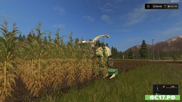 Мод FS17 Corn texture v 1.0 для Фермер Симулятор 2017