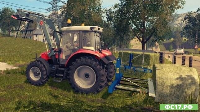 Мод FS17 Goweil TDD – Double Bale Transport Spike для Фермер Симулятор 2017